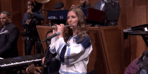 'Villanova Piccolo Girl' Roxanne Chalifoux Sits In With 'The Roots' On The 'Tonight Show With Jimmy Fallon'