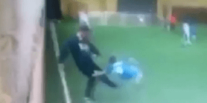 Russian Soccer Coach Kicks The Crap Out Of A Small Child At Youth Soccer Game