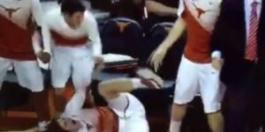I Can't Stop Watching The Texas Bench Go Berserk After Cameron Ridley's Dunk