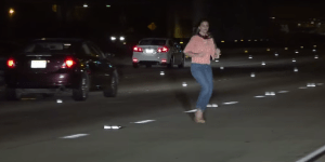 Woman Nearly Gets Murked Because She Was So Wasted That She Peed In The Middle Of A Busy Highway