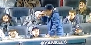 Watch Jimmy Fallon Attempt To Chug A Beer At Yankees Game