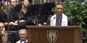 NBA Star Damian Lillard Gives Inspirational Speech During His College Graduation