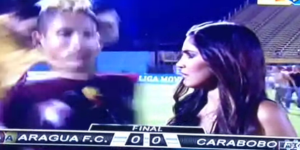 Soccer Player Brutally Attacked During Live TV Interview By Fan With Flying Kick