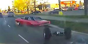 Watch This Muscle Car Self-Destruct While Trying To Show Off