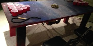 Bro Builds An Awesome Beer Pong Table With A Hookah In The Middle Of It