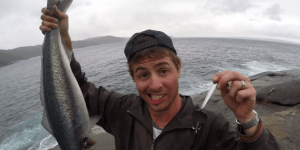 Crazy Aussie Bros Use A Knife, Fork, And Spoon To Catch Huge Ass Salmon During The 'Utensil Challenge'