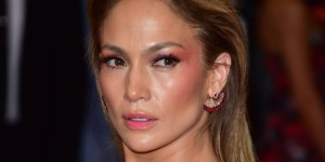 Jennifer Lopez REALLY Wants You To Look At Her Boobs, I Mean The Design On Her Dress