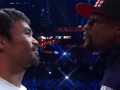 Manny Pacquiao Said 'Thank You' To Floyd Mayweather During Staredown At Weigh-In
