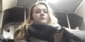 Hidden Crotch Cam Catches Women Gawking At Man's Enticing Bulge On The Train