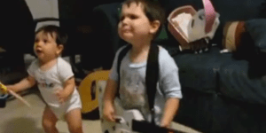 This 2-Year-Old Being Possessed By 'Bulls On Parade' On Guitar Hero Will Own The Internet Today