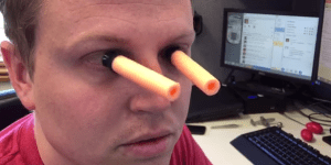 Need A Useless Skill To Impress Stupid People With? Learn How To Stick Nerf Bullets To Your Eyeballs From This Guy