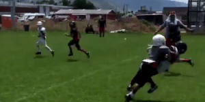7-Year-Old Kid Absolutely Wrecks Defender In Pee-Wee Football Game
