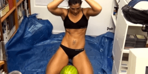 Wanna See A Chick Crush Watermelons Between Her Legs? Me Neither, But You're Still Gonna Watch It