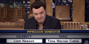 Seth MacFarlane Did Perfect Impressions Of Liam Neeson And Bobcat Goldthwait On 'Fallon' Last Night