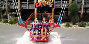 Scary Video Of Woman And Boy Coming Seconds From Getting Killed On Catapult Ride