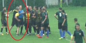Soccer Coach Sprints On To Field To Coldcock Referee During Romanian Cup Match