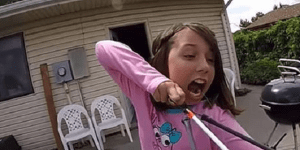 Watch This Badass Girl Rip Out A Loose Tooth With A Slingbow