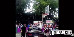I Can't Stop Watching This Dude Totally FAIL At Dunking Over A Convertible