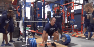 Just A Video Of The Auburn Football Team's SAVAGE Weight Room Day