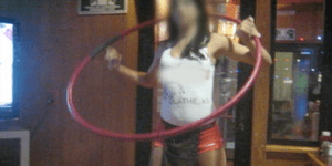 I Can't Stop Watching This Hot Hooters Waitress Try To Hula Hoop On A Table