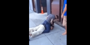 Grown Ass Man Gets Taken Down To The Pavement And Starts Crying After He Disrespects A Woman