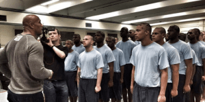 Watch The Rock Attend A Boot Camp Graduation To Inspire Young Offenders For His HBO Documentary 'Rock & A Hard Place'