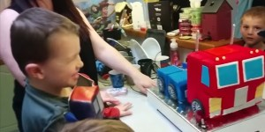 Kid Gets Optimus Prime Cake For His Birthday THAT ACTUALLY TRANSFORMS