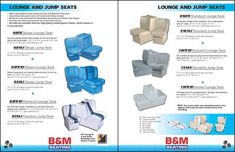 24 Page Catalog Design for Marine Seat Manufacturer BM by Dynamic