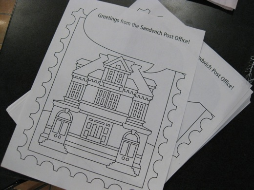 sandwich post office colouring pages