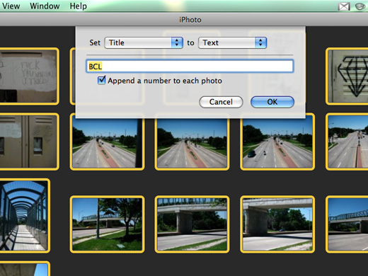 batch processing in iPhoto