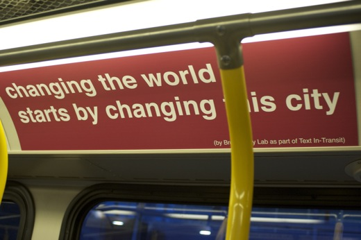 changing the world starts by changing this city
