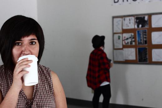 Cristina drinks coffee (and destroys)