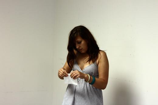 Michelle folding paper