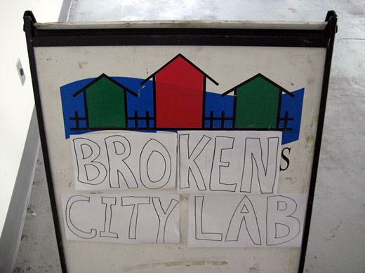 Broken City Lab, the sign