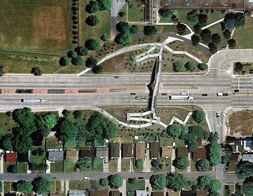 Nature Bridge Pedestrian Overpass, Windsor, Ontario
