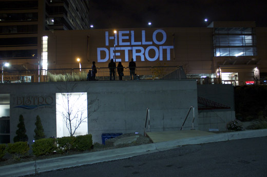 November 3, 2009 Projection + Battery tests by Broken City Lab