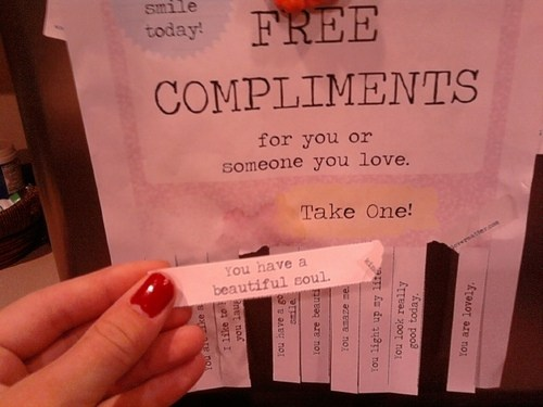 free compliments. from Kind over Matter.