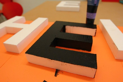 Styrofoam letter tests for our Letter Library Project (1)