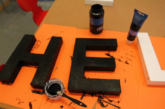 Styrofoam letter tests for our Letter Library Project (2)