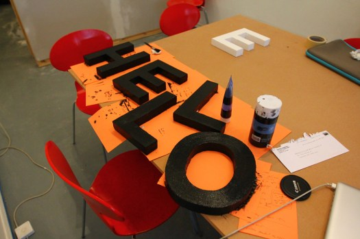 Styrofoam letter tests for our Letter Library Project (3)