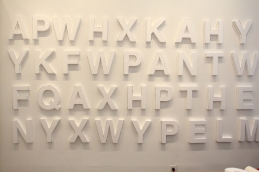 Styrofoam letters, white walls, night time guerilla art (14)