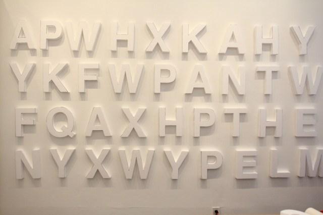 Styrofoam letters, white walls, night time guerilla art (14)