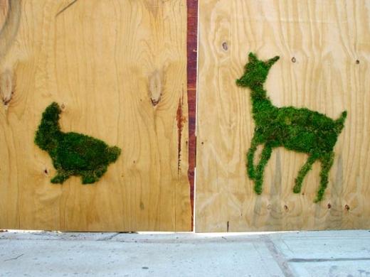 moss street art by Edina Tokodi