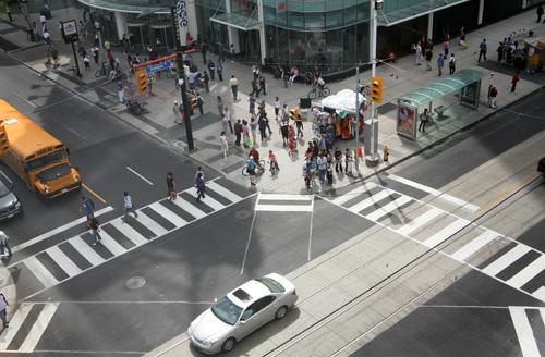 Toronto Pedestrian Scramble