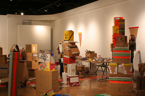 Box City in the Gallery