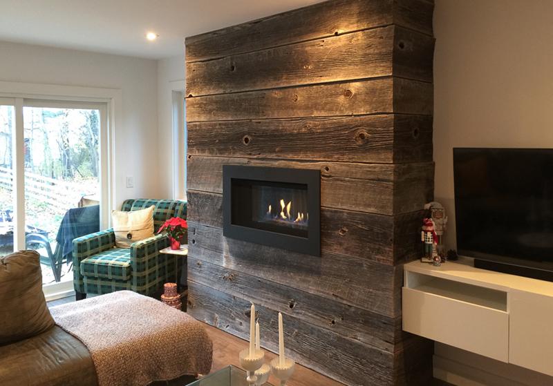 Barnboard Clad Fireplace Brolly Renos