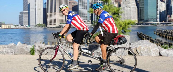 Tandem Riders Enjoy The Brooklyn Greenway Epic Ride