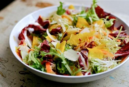 radicchio and frisee salad