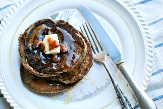 buckwheat bacon pancakes
