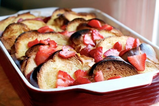 strawberry baked french toast recipe
